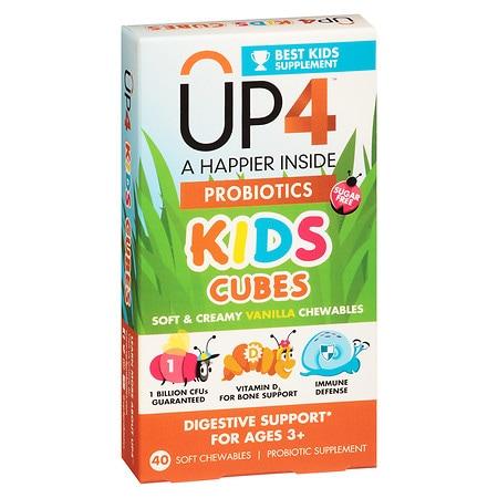 UP4 Kids Cubes Probiotics Supplement Chewables Vanilla - 40 ea