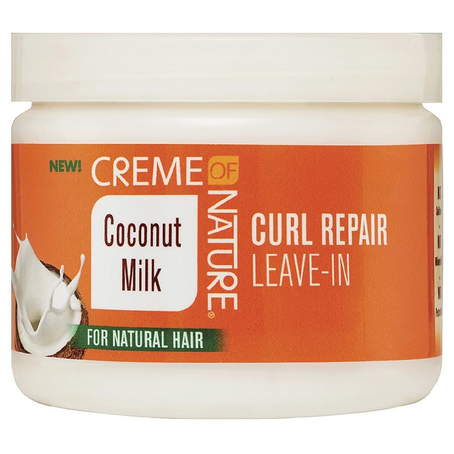 Image result for creme of nature coconut milk leave in conditioner