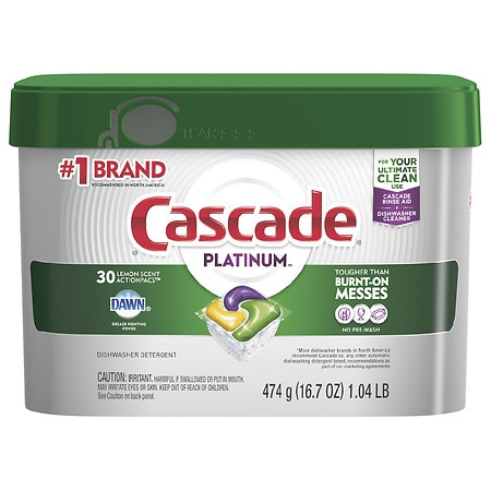 Cascade Platinum ActionPacs Dishwasher Detergent Lemon - 17 oz.