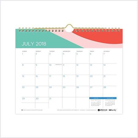 Blue Sky Abstract Wall Calendar 11x8.75 inch - 1 EA
