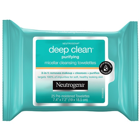 Neutrogena Deep Clean Purifying Micellar Cleansing Towelettes - 25 ea