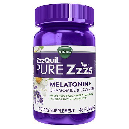 ZzzQuil PURE Zzzs Dietary Supplement Gummies Wildberry Vanilla - 48 ea