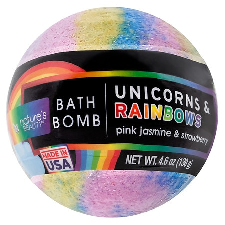 Nature's Beauty Unicorns & Rainbows Bath Bomb - 4.6 oz.