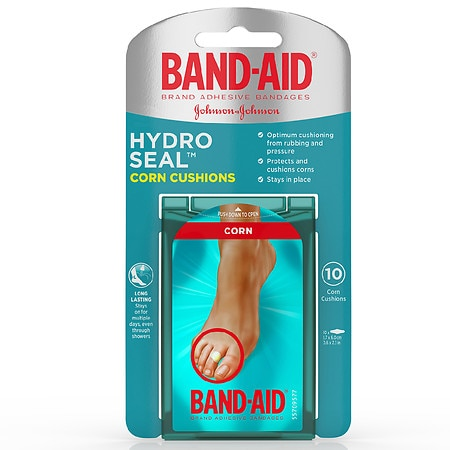 Band-Aid Hydro Seal Bandages Corn Cushions, Medium - 10 ea