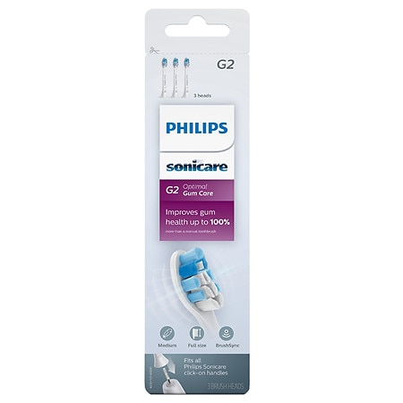 Philips Sonicare G2 Optimal Gum Care Replacement Brush Heads - 3 ea