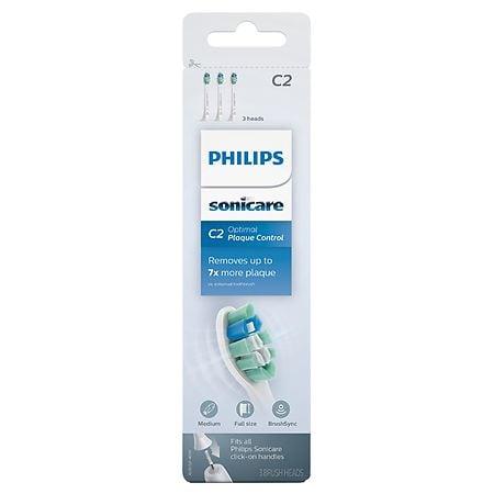 Philips Sonicare C2 Optimal Plaque Control Replacement Brush Heads - 3 ea