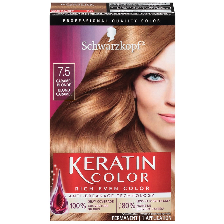 a29d531f1c Schwarzkopf Hair Color, Caramel Blonde 7.5 | Walgreens
