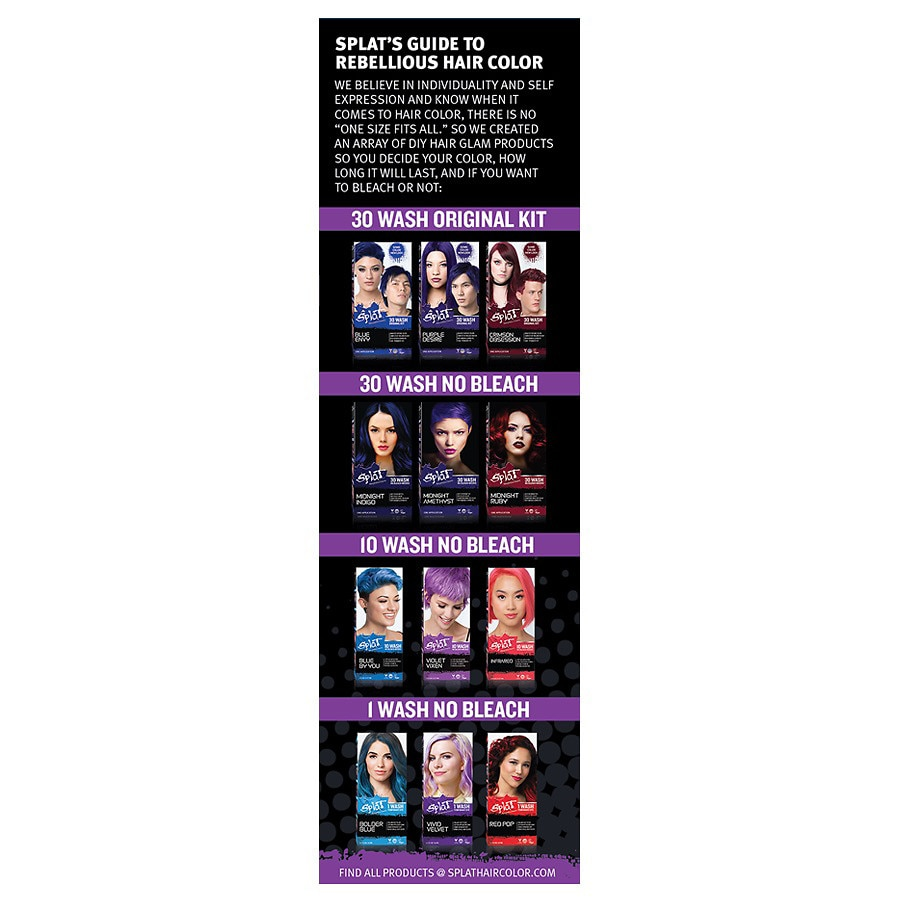 Splat Hair Color 10 Wash No Bleach Formulaviolet Vixen Walgreens