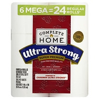 6-Count Complete Home Super Premium Ultra Strong Bath Tissue
