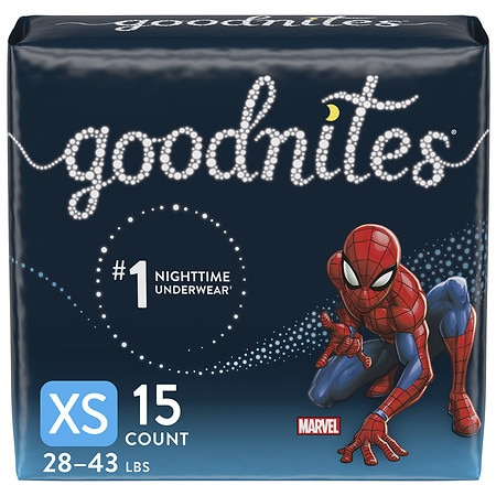 GoodNites Bedtime Bedwetting Underwear for Boys X-Small - 15 ea