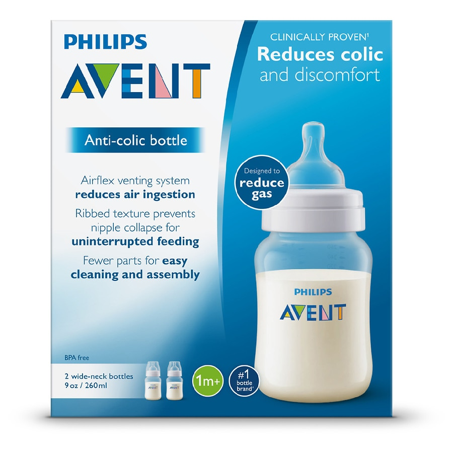 3b9ab0551e76 Philips Avent Anti-Colic Baby Bottle (SCF403/27) Clear