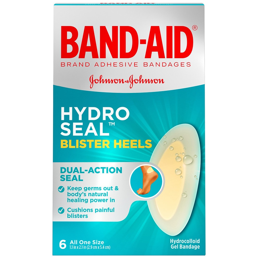 Band Aid Brand Hydro Seal Adhesive Bandages For Heel Blisters Walgreens