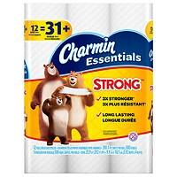 Walgreens.com deals on Charmin Essentials Strong Toilet Paper 12 Giant Rolls