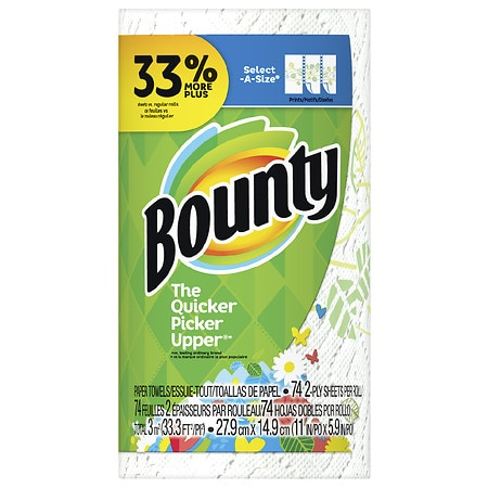 Bounty Select-A-Size Paper Towels Big Roll - 74 ea