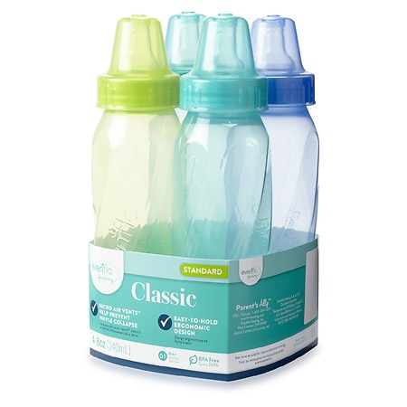 Image of Evenflo Classic Tinted Polypropylene Bottles 8 oz - 4 ea