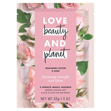Love, Beauty & Planet Blooming Strength and Shine Deep Conditioning Mask Murumuru Butter & Rose - 2 oz.