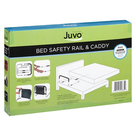 Image of JUVO Bed Safety Rail & Caddy - 1 ea