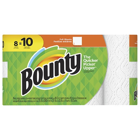 Bounty Paper Towels Large Rolls White Walgreens
