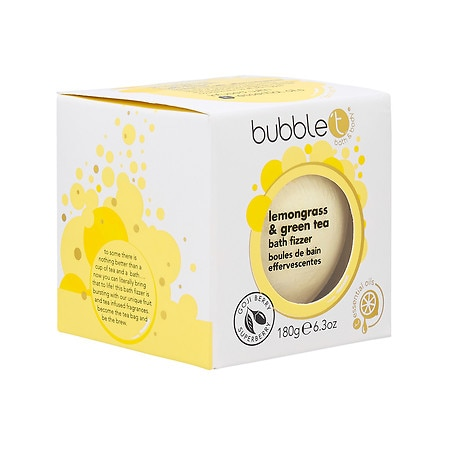 Bubble T Bath Fizzer Lemongrass & Green Tea - 6.3 oz.