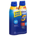Coppertone Sport Sunscreen Continuous Spray Broad Spectrum SPF 30, Twin Pack