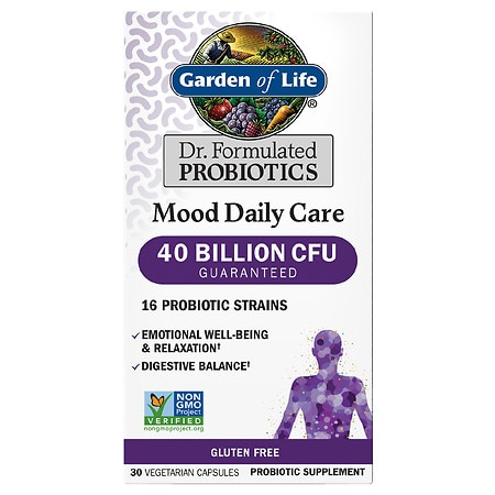 Garden of Life Dr. Formulated Mood Daily Care Probiotic Capsules - 30 EA
