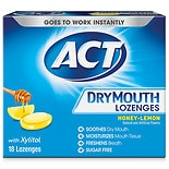 ACT Dry Mouth Lozenges Honey Lemon