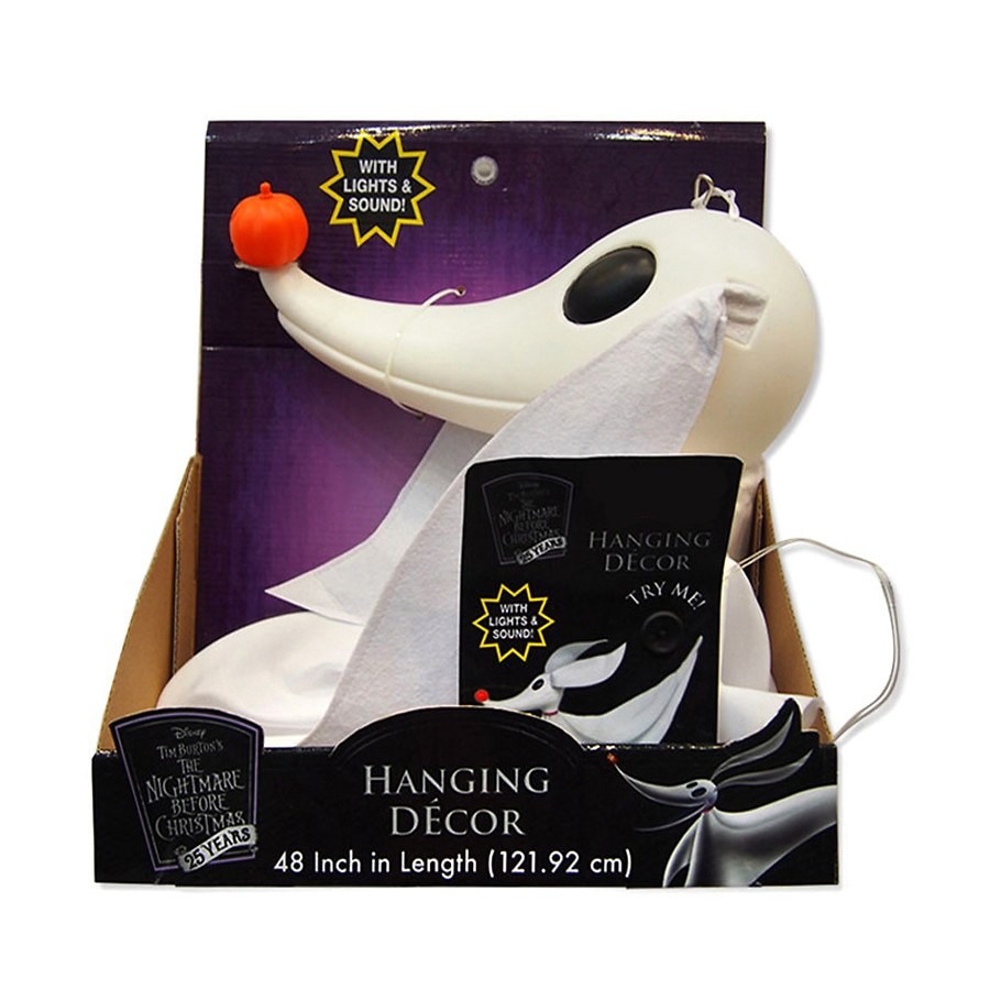 Disney Nightmare Before Christmas Zero Hanging Decor 4 Foot With ...