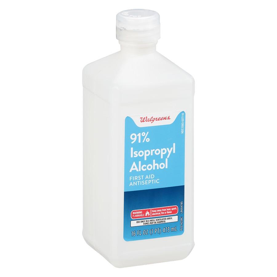 Walgreens Isopropyl Alcohol 91% First Aid Antiseptic | Walgreens