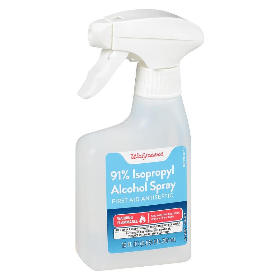 Walgreens Isopropyl Alcohol 91% Spray First Aid Antiseptic | Walgreens