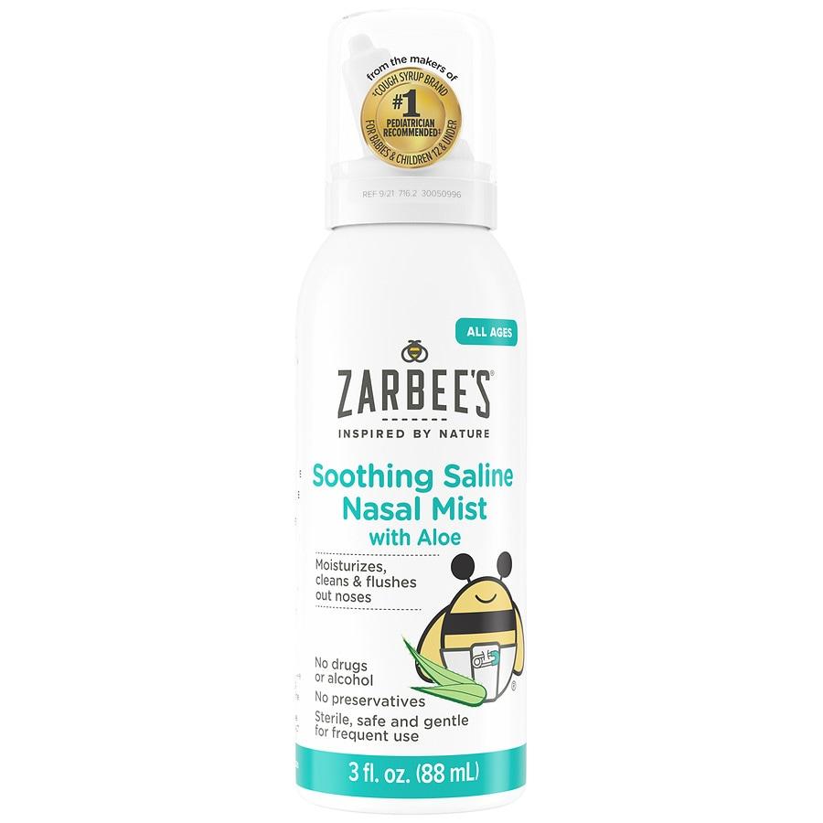 Zarbee S Naturals Soothing Saline Nasal Mist With Aloe Fragrance Free Walgreens