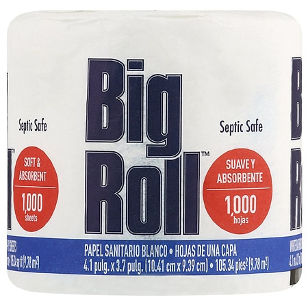 Big Roll Toilet Paper 1000 Sheets - 1000 ea
