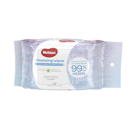 Huggies Baby Wipes Cleansing Wipes Purse Pack - 24 ea