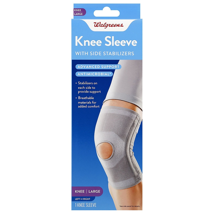 910bb4daef Walgreens Knee Sleeve with Side Stabilizer | Walgreens