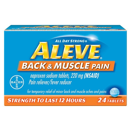 Aleve Back & Muscle Pain Tablet, Pain Reliever/Fever Reducer - 24 ea
