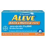 Aleve Back & Muscle Pain Tablet, Pain Reliever/ Fever Reducer