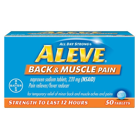 Aleve Back & Muscle Pain Tablet, Pain Reliever/Fever Reducer - 50 ea