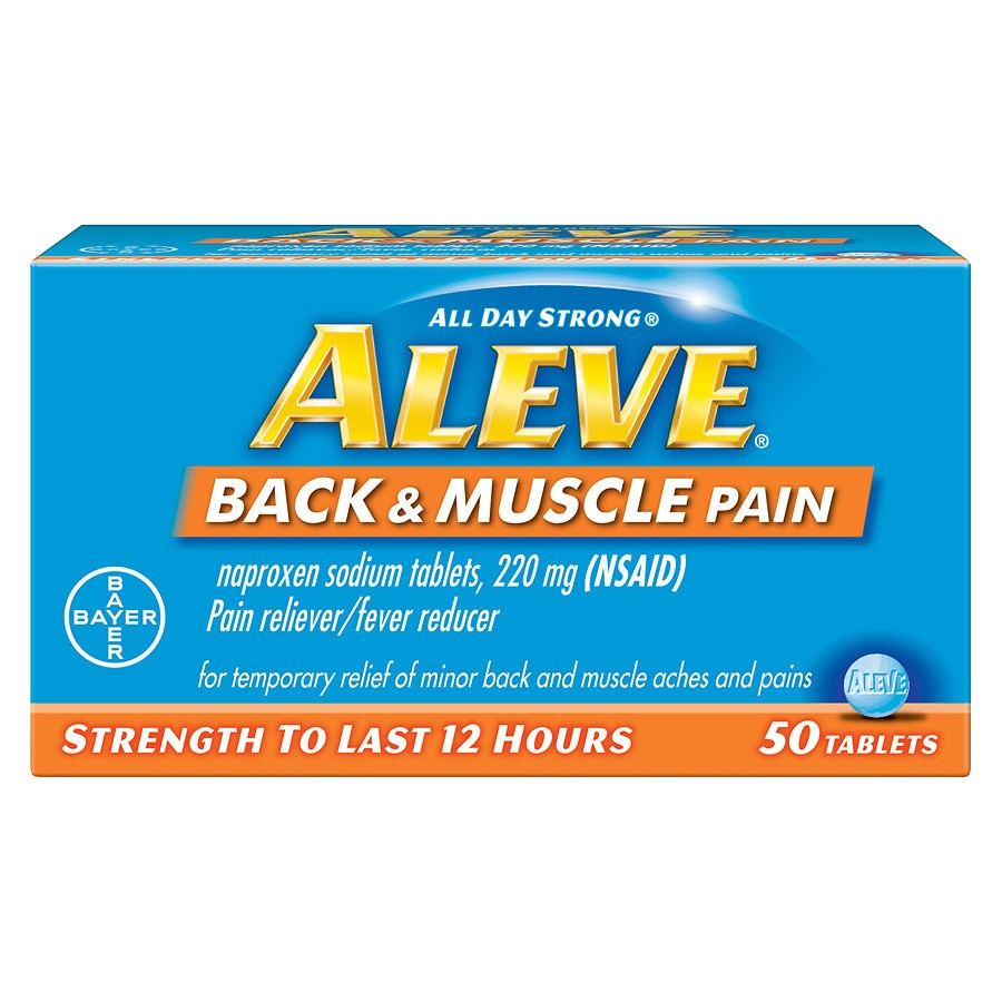 aleve back & muscle pain tablet, pain reliever/fever reducer | walgreens