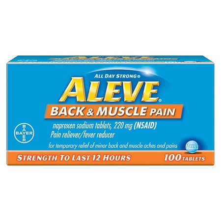 Aleve Back & Muscle Pain Tablet, Pain Reliever/Fever Reducer - 100 ea