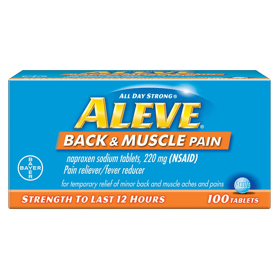 Aleve Back & Muscle Pain Tablet, Pain Reliever/Fever ...