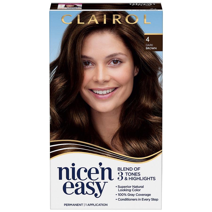 Clairol Nice N Easy Permanent Hair Color4 Dark Brown Walgreens