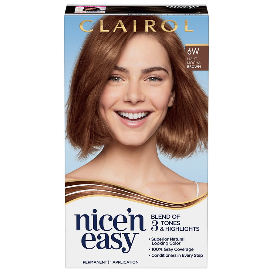Clairol Nice 'n Easy Permanent Hair Color, 6W Light Mocha Brown