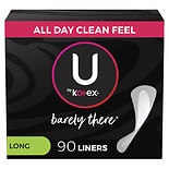 U by Kotex Barely There Folded and Wrapped Pantiliners Long