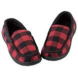 totes Men's Memory Foam Slipper Red Buffalo Check