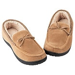 totes Men's Memory Foam Slipper Moccasin Sandstone