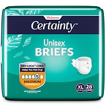 Walgreens Certainty Unisex Briefs X-Large