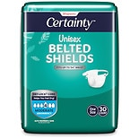 Walgreens Certainty Belted Shields for Men and Women, Moderate Absorbency