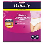 Walgreens Certainty Women's Underwear, Maximum Absorbency X-Large