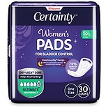 Walgreens Certainty Women's Overnight Bladder Control Pads, Ultimate Absorbency