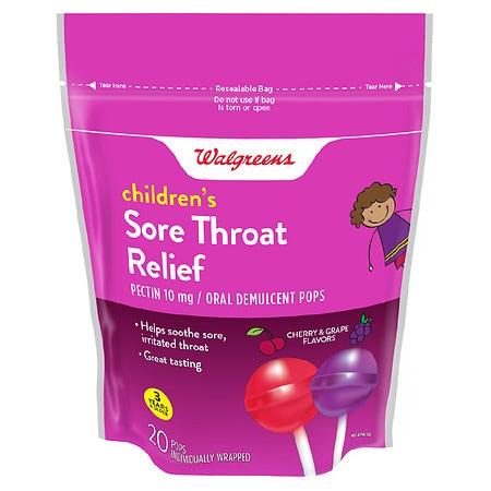 Walgreens Sore Throat Lollipop Cherry & Grape - 1 ea