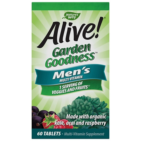 Nature's Way Alive! Garden Goodness Men's Multivitamin Tablets - 60.0 ea